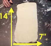 Puff pastry recipe 'dough rolled out'
